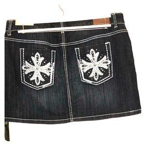 NWT Maurices jean mini skirt 15/16